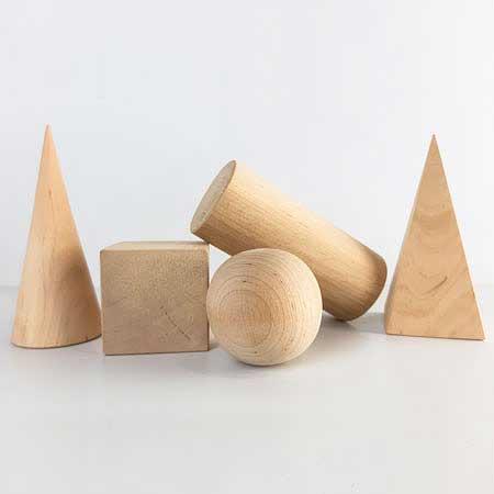 Набор моделей геометрических тел и фигур (деревянные)