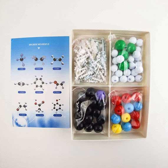 Моделі атомів для складання молекул фото 52209