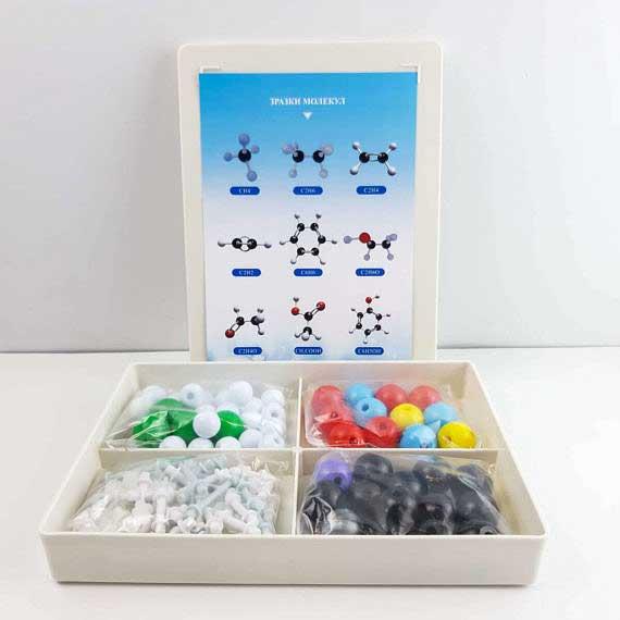Моделі атомів для складання молекул фото 52211