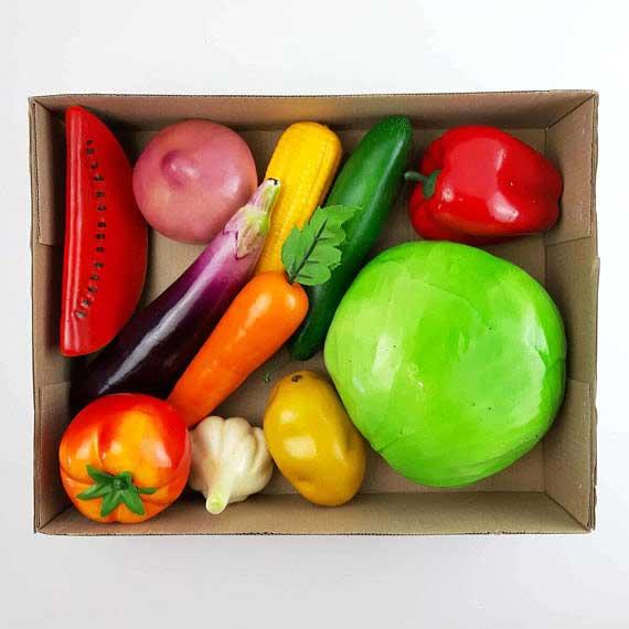 Муляжі «Овочі» демонстраційний набір фото 52180