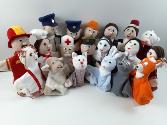Кукольный театр «Профессии, семья, животные» 20 персонажей фото 50064