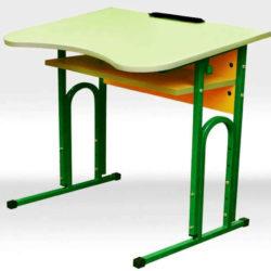 Стол ученический Школьник одноместный регулируемый с вырезом под ученика фото 49757