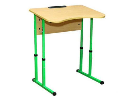 Стіл учнівський Школяр одномісний регульований з вирізом під учня фото 51933