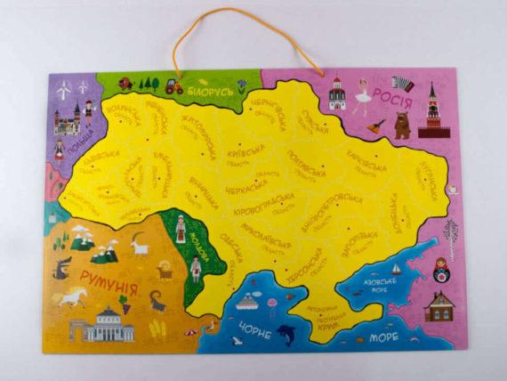 """Магнитная карта-пазл """"Путешествуем Украиной"""" фото 49638"""