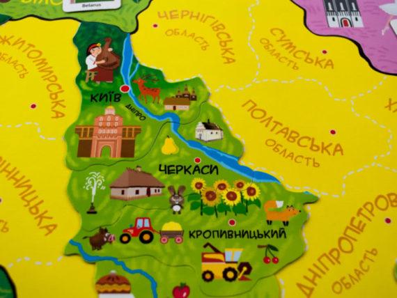 """Магнитная карта-пазл """"Путешествуем Украиной"""" фото 49640"""