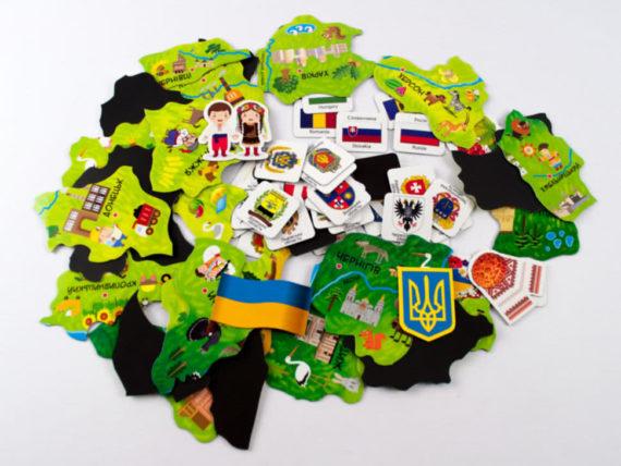 """Магнитная карта-пазл """"Путешествуем Украиной"""" фото 49641"""