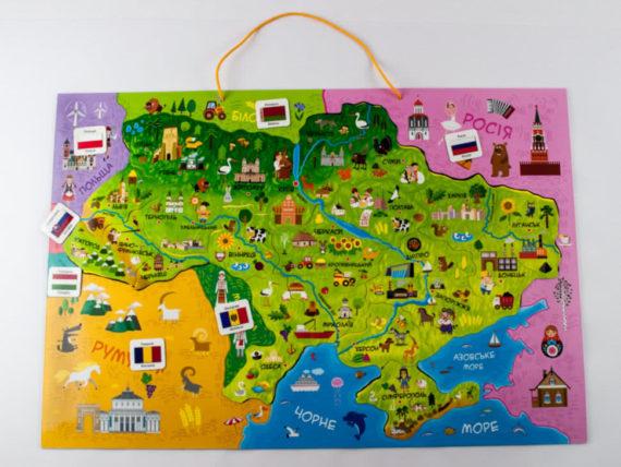 """Магнитная карта-пазл """"Путешествуем Украиной"""" фото 49642"""