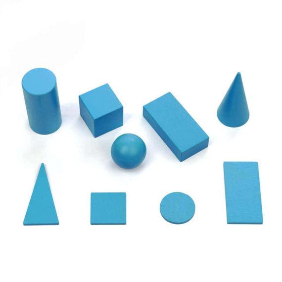 Набір геометричних  фігур (обємні та на  площині)