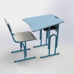 Стіл учнівський одномісний регульований з вирізом під учня фото 51882