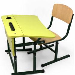Стіл учнівський двомісний регульований без полиці фото 51876