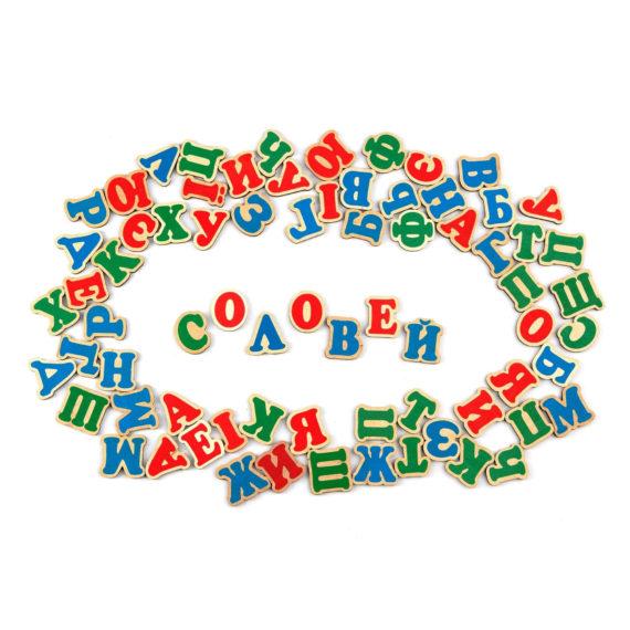 """Деревянный набор """"Украинская азбука на магнитах"""" фото 50194"""