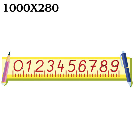 """Стенд """"Лінійка чисел і цифр"""" НУШ фото 51813"""