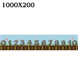 """Стенд """"Лінійка чисел і цифр"""" НУШ фото 51804"""