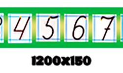 """Стенд """"Лінійка чисел і цифр"""" НУШ фото 68331"""