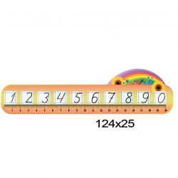 """Стенд """"Лінійка чисел"""" для Нуш фото 68391"""