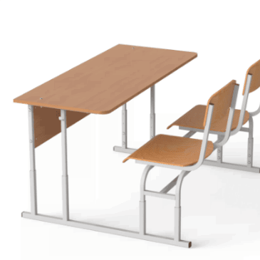 Парта монолитная со стульями