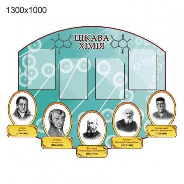 Стенд «Интересная химия» бирюзовый