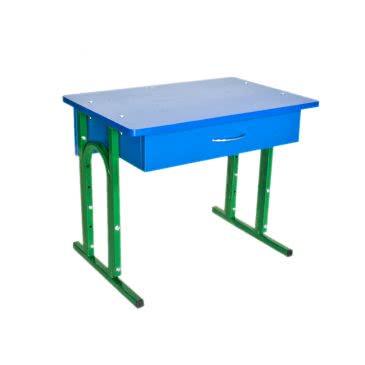 Детский стол регулируемый одноместный с ящиком