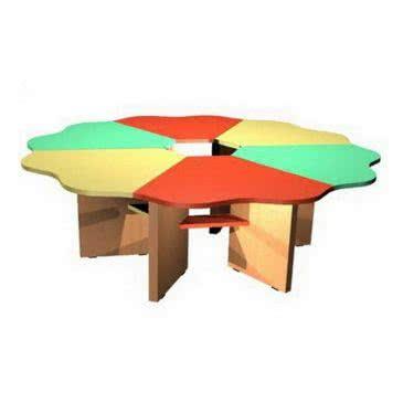 Столик для дитячого садка «Ромашка» 6-секційний