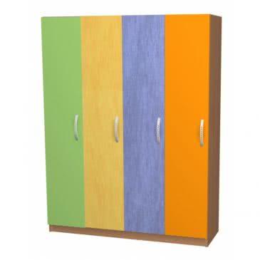 Шкафчик для одежды 4 секции