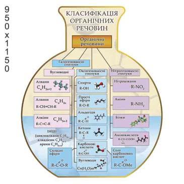 Стенд «Классификация органических веществ» колба
