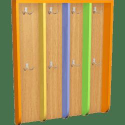 Шкафчик для детской раздевалки с цветными дверьми (5 секций) фото 46645