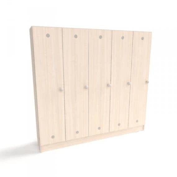 Шкаф для детской раздевалки на 5 секций от производителя фото 46582