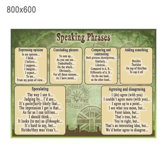 """Стенд """"Разговорные фразы"""" зеленый фото 43833"""