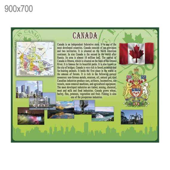 "Стенд ""Канада"" зеленый фото 43469"