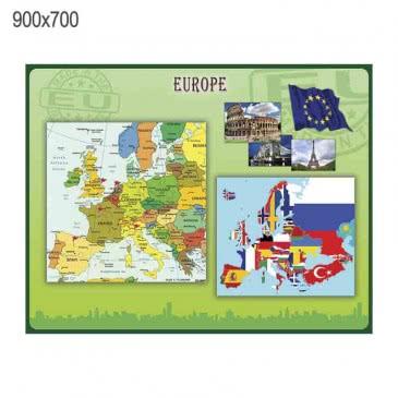"""Стенд """"Європа"""" зелений"""
