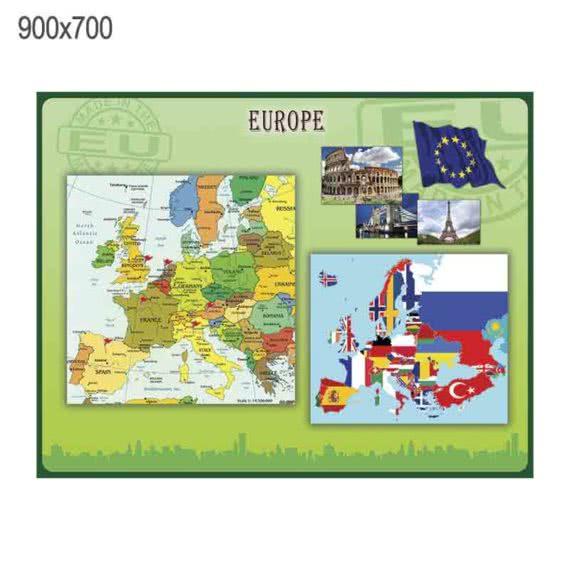"""Стенд """"Европа"""" зеленый фото 43472"""