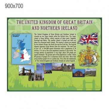 Стенд «Великобритания» зеленый