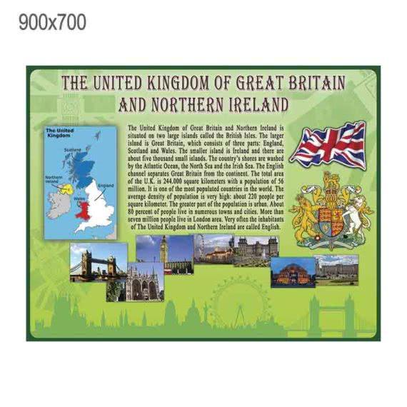 """Стенд """"Великобритания"""" зеленый"""