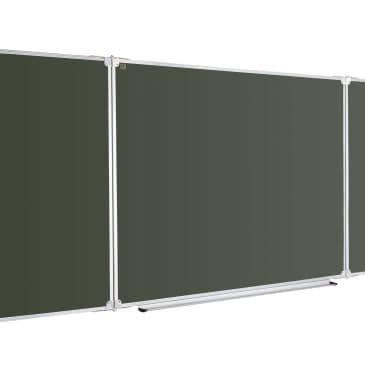 Трехсекционная доска для мела 300×100 в рамке X-line