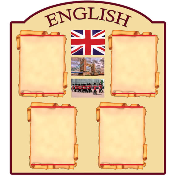 Стенд English в школу фото 41221