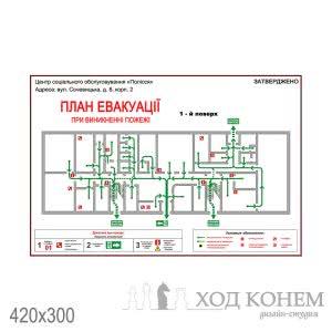 План график эвакуации