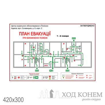 План графік евакуації