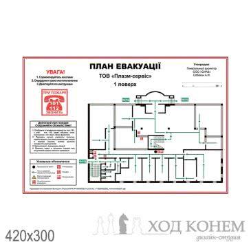 План евакуації адміністративної будівлі