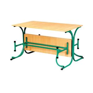 Стол для столовой с откидными лавками (4 места)
