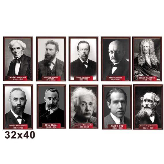 Комплект портретів фізиків