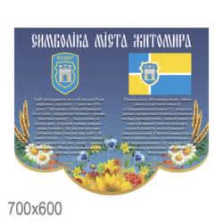 Стенд «Славне місто Запоріжжя синьо жовтий фігурний» фото 52274