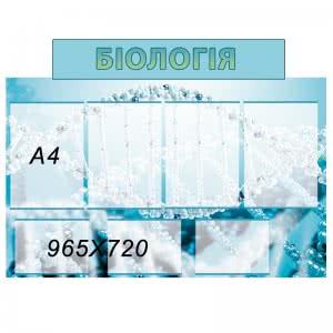 Биология стенд синий  (Копия)