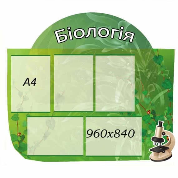 Стенд Биология зеленый фото 41784