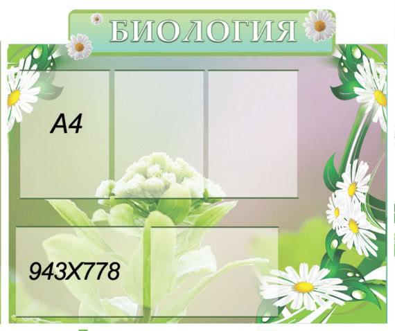 Стенд біологія весняний ХК 0705