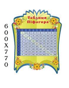 """Стенд """"Таблица Пифагора"""" книга зеленая"""