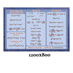 Стенд «Тригонометрия» сине-голубой фото 43514