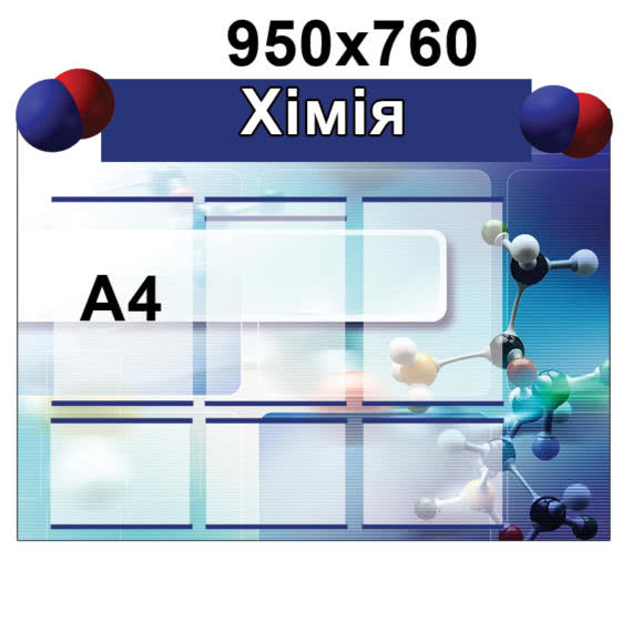 Стенд Хімія молекула ХК 0777