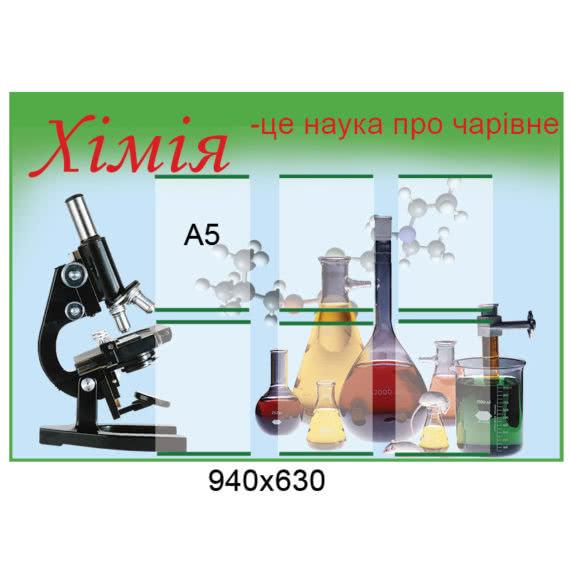 Стенд Химия зеленый фото 42085