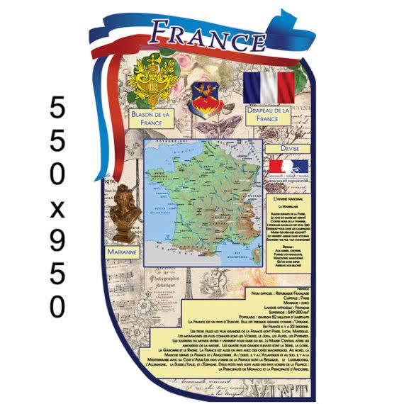 Стенд с картой и символикой Франции фото 44438