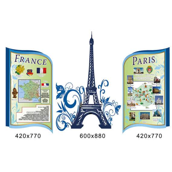 Комплекс стендов с Эйфелевой башней фото 44442